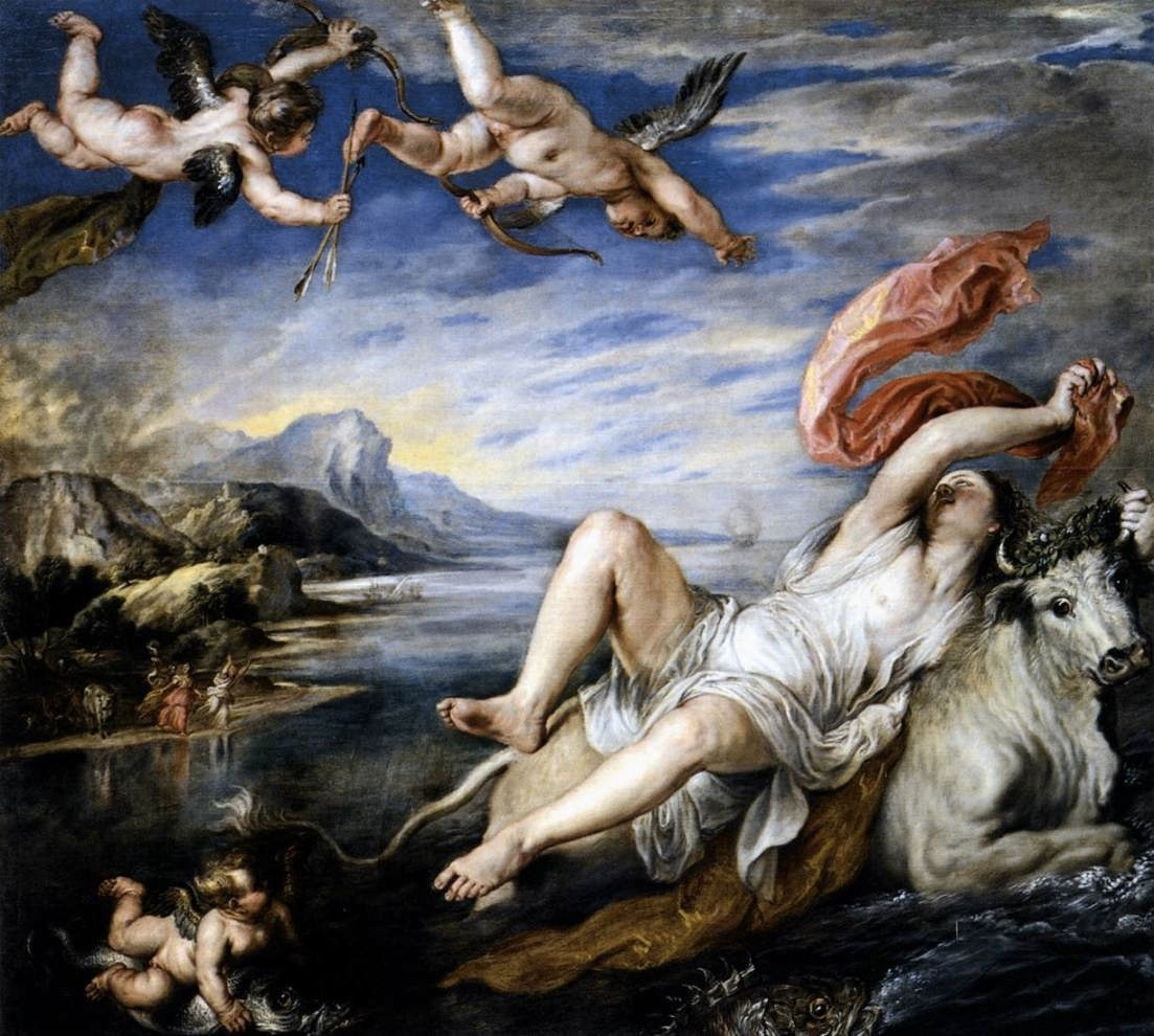 The Rape of Europa (1559-1562), oil on canvas | artwork by Titian