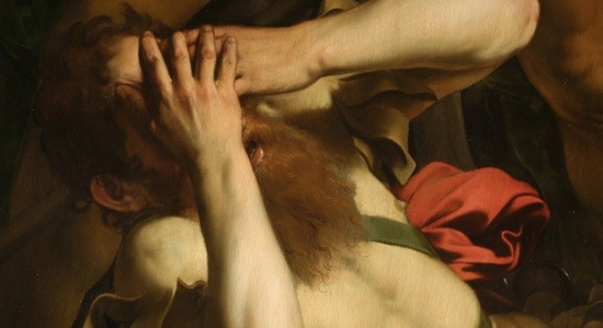 Detail of The Conversion of Saint Paul (1601) | artwork by Caravaggio