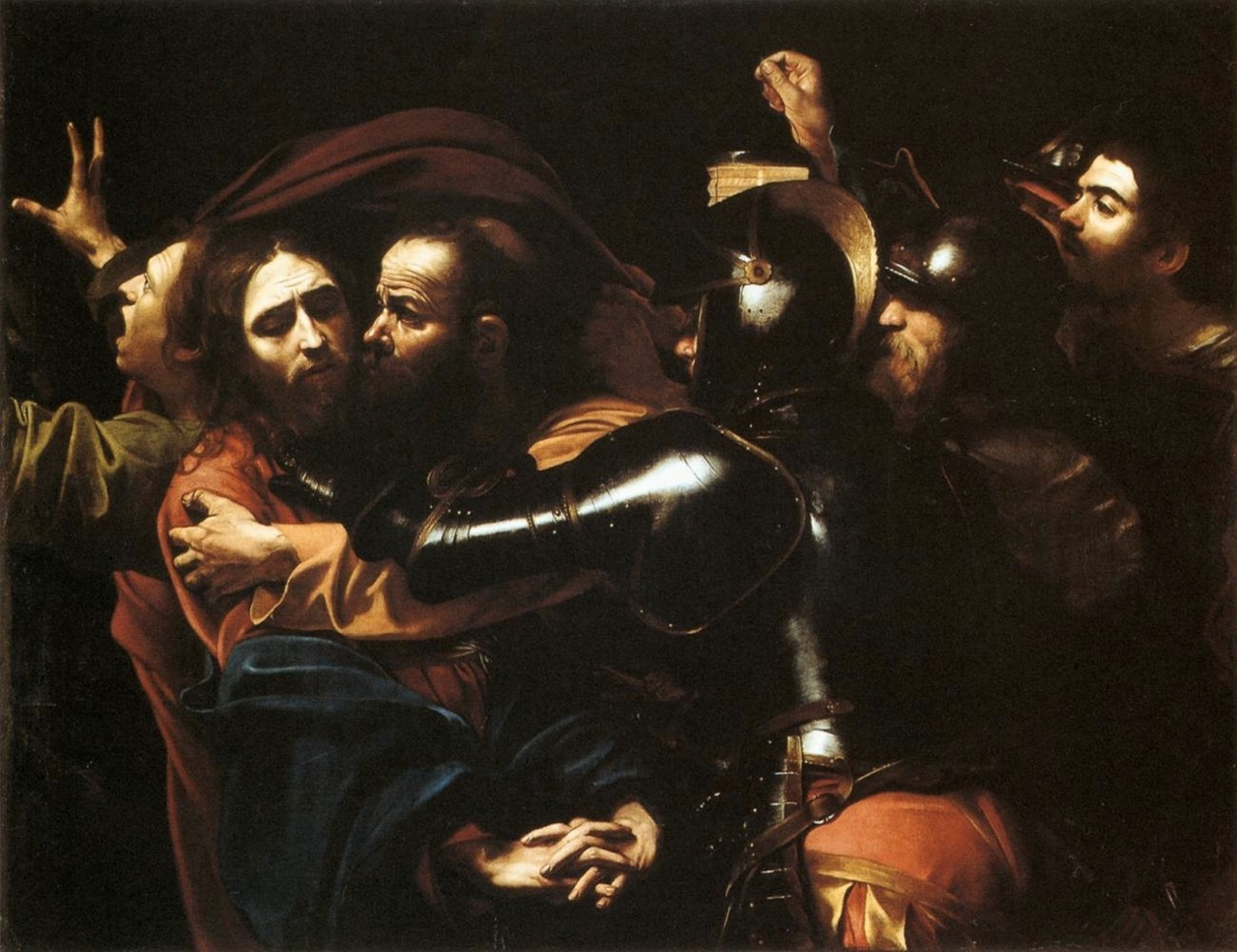 The Taking of Christ (1602), oil on canvas, National Gallery of Ireland, Dublin | artwork by Caravaggio