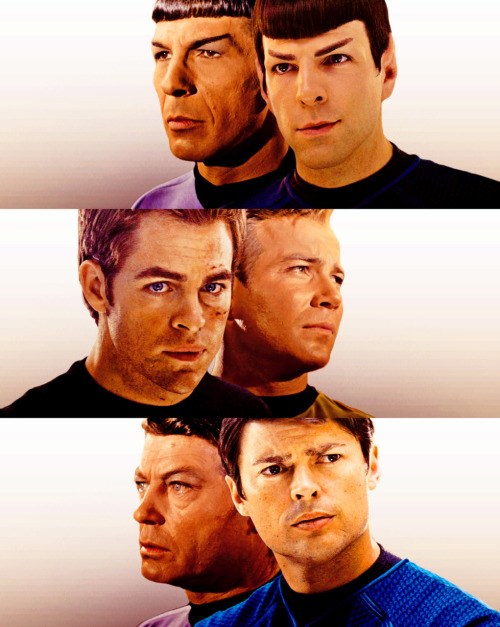 riker-wears-a-skant:     #i'm pretty sure this is the most accurate re-cast in history   It's downright unnerving how Karl has the exact same worried, furrowed brow as De did. Probably one of the tiniest things about the reboot, and yet it's one of the things about it that makes me the happiest.  Except the new ones all have the sexy man-pout that seems to be the latest trend in attractive models and actors.