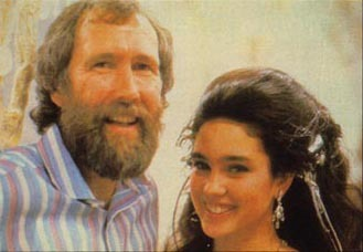 labyrinthnook:  Jim Henson with Jennifer Connelly, an adorable behind the scenes photo taken during the filming of the ballroom scene.