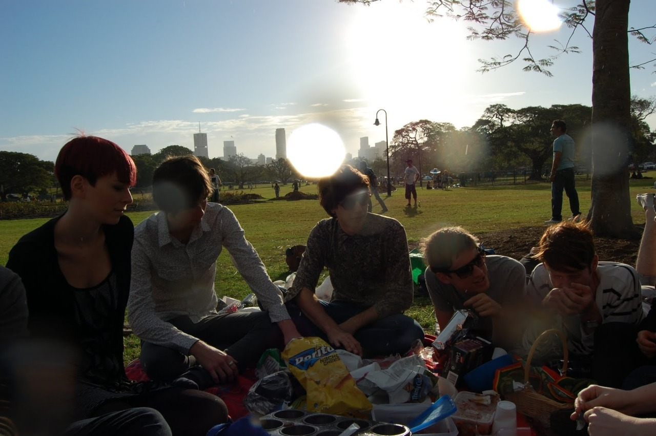 Boy  At a picnic with my friends.