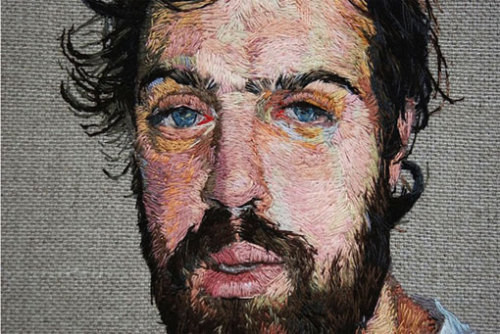 jukeboxdive:  daniel kornrumpf- embroidered portraits  I think I may have posted his work before, but it's worth a revisit. Click through to see the rest, they're all stunning. I would love to see some in progress photos to see his process.