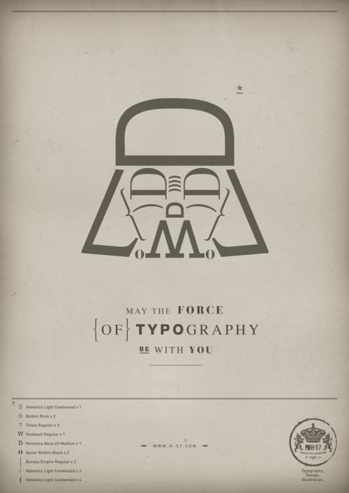 fer1972:  May the Force (of) Typography be with you by H-57
