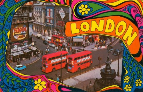 Piccadilly Circus - swinging London.