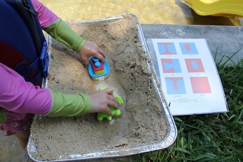 (via Chasing Cheerios: Montessori on the Beach…Landforms) Building our own landforms