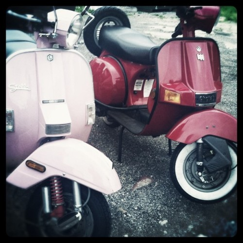 his and hers #scooter #bajaj #stella (Taken with instagram)