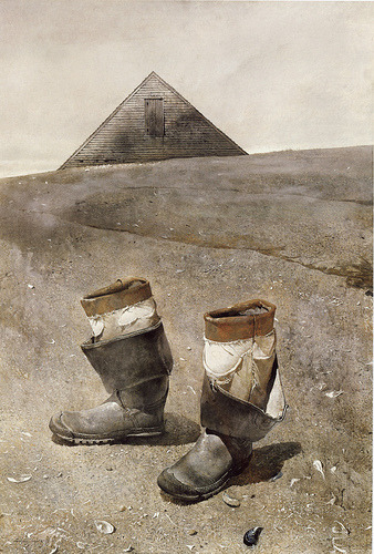 Wyeth, Sea Boots 1976 (by hassing2007)