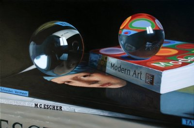zentrifuge:  Jason DeGraaf - Reflections of Modern Art  (acrylic on canvas)  Fuck someone made this? With their hands? Why am I working when I need to be painting?… oh right. rent.