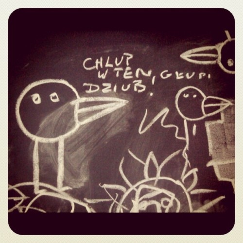 Chlup w ten glupi dziub (Taken with instagram)
