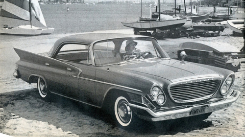 weeklyspectator:  Beachlife. 1961 Chrysler Newport 4 Door Hardtop by coconv on Flickr.