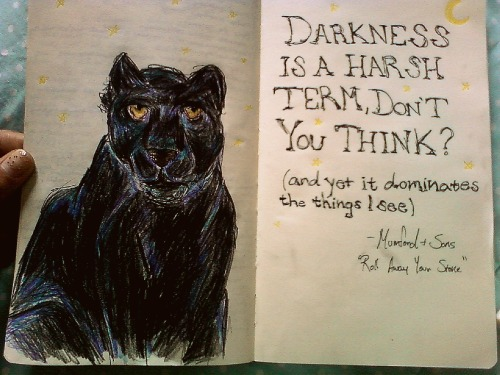 A true believer that Mumford and sons lyrics are Art, especially in a moleskin.