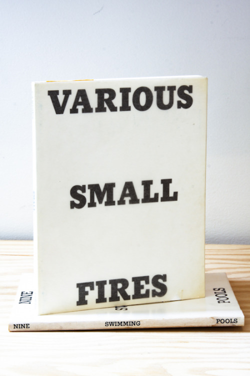 "Ed Ruscha, Various Small Fires and Milk (2nd Ed.) ""Benzomatic"" Ed Ruscha, Los Angeles, California, 1964  5½  X 7 INCHES (18 x 14 cm) $600 Purchase"