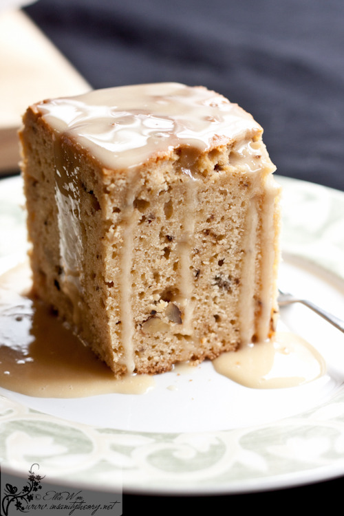 Walnut Cake in Maple Syrup Glaze