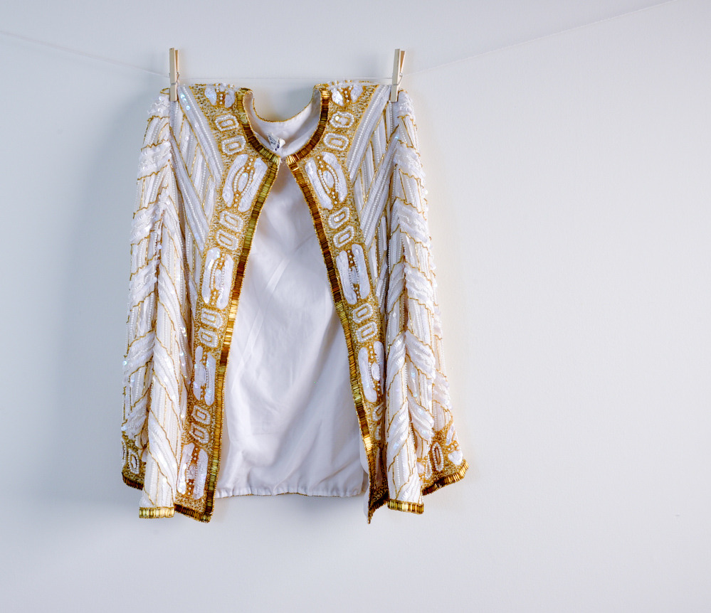 silk art deco bead/sequin jacket