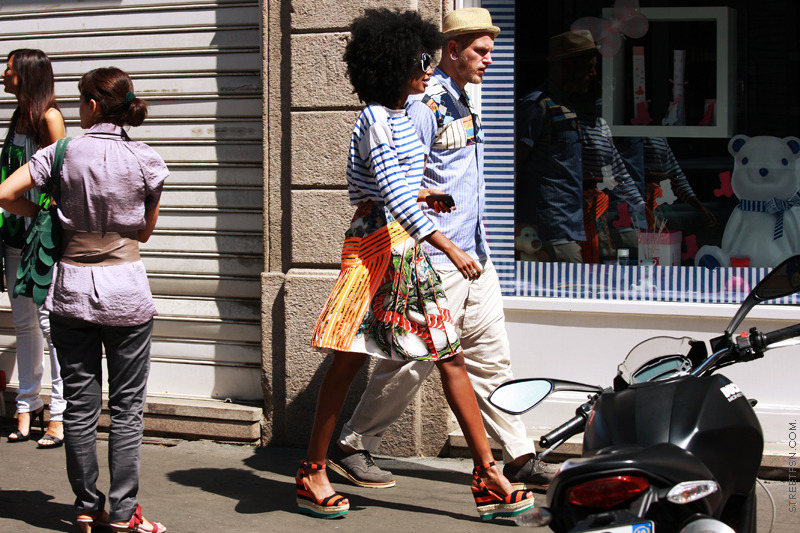 fuckyeahstreetstyle:  Sarr-Jamois in C. Kane and Prada   Stripes for the summer