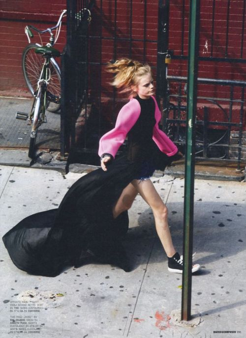 iwantyourleatherstuddedkiss:  Hanne Gaby Odiele in Dazed and Confused October 2009
