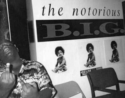CLASSIC PHOTO OF THE NOTORIOUS B.I.G./READY TO DIE PROMO