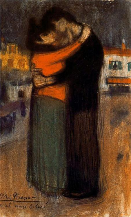 Pablo Picasso, Lovers of the Street (Les amants de la rue), 1900