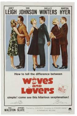 Movies I've Seen in 2011 171.  Wives and Lovers (1963) Starring:  Van Johnson, Janet Leigh, Shelley Winters Director:  John Rich Rating:  ★★★/5