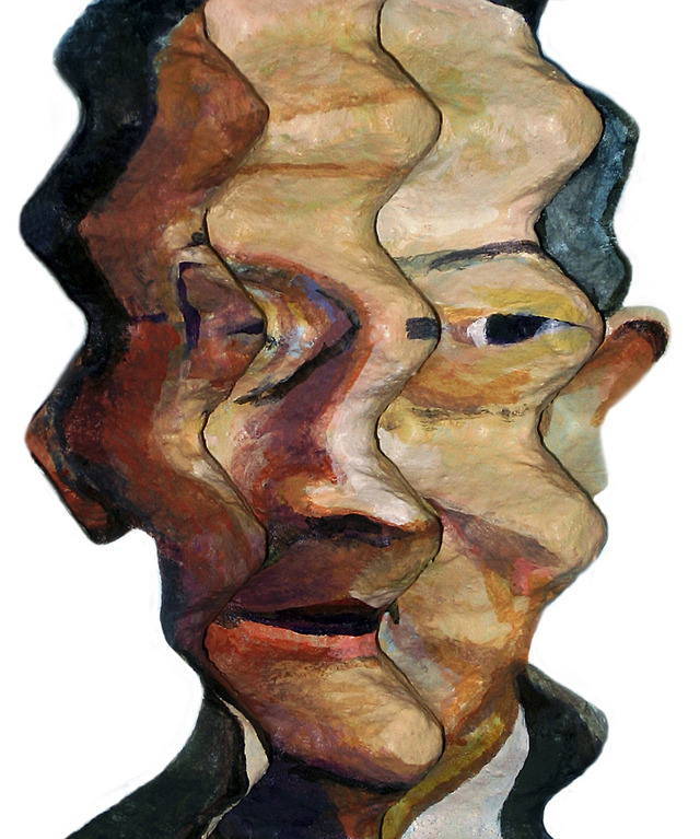 "Enno de Kroon's works are incredibly distorted, love this technique, his work is based on recycling art and cubism. The artist from The Netherlands uses egg crates instead of canvas to make amazing ""two-and-a-half"" dimensional paintings in a style he defines as Eggcubism"