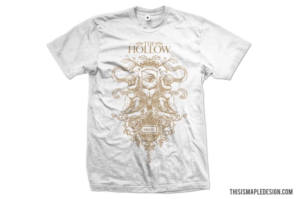 Old tee design for my mates in The Hollow. They have a new song on their facebook and a new record coming out soon. Check them out! (www.facebook.com/thehollownc)