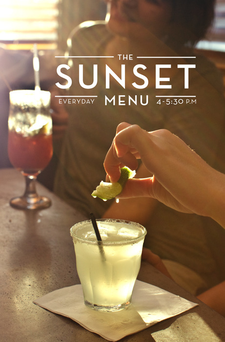 Found out that Cafe Collette in Brooklyn, NY has a Sunset Menu. Come on! How CUTE is that? Me Likey.