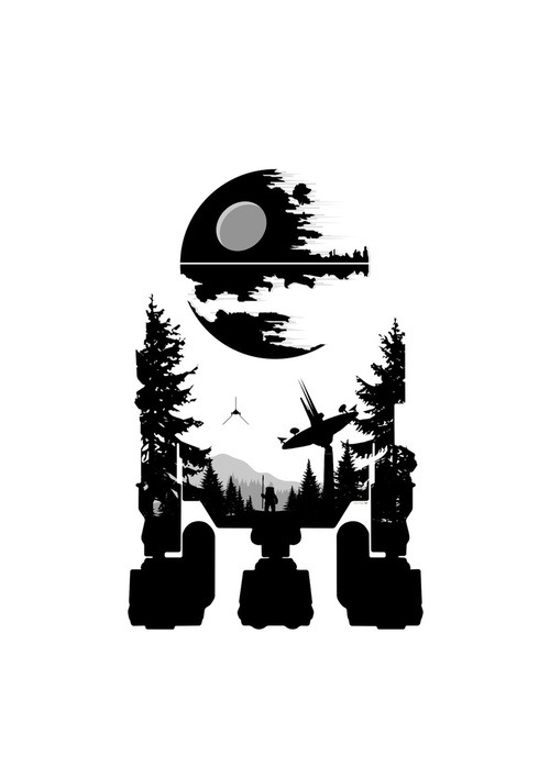 tiefighters:  R2D2  - by Simon Page Print available at society6.  blog | twitter | portfolio