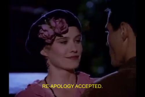 Actually, no, I don't accept your apology for that hat.