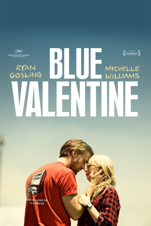 Blue Valentine  Blue Valentine (2010)   112 min  -  Drama | Romance          7.7/10 IMDB RATING The film centers on a contemporary married couple, charting their evolution over a span of years by cross-cutting between time periods. Director:  Derek Cianfrance Writers:  Derek Cianfrance, Cami Delavigne Stars:  Ryan Gosling, Michelle Williams and John DomanI Recently watched this beautifully shot, heart wrenchingly acted and brilliantly constructed Indie film. The story of a Couple on the brink of a breakdown and their attempts to come to terms with the reality. Using the notions of flashbacks interwoven in the story creates a Light/Dark divide and creates such emotion you end up caring about these characters and their predicament.Brilliantly acted, especially from Ryan Gosling who plays laid back and cool ever so well aswell as insecure and broken towards the later stages of his life. Michelle Williams also plays well as the ever so pessimistic woman whose life amounts to nothing in her eyes.Its a Film that takes a realistic stance on relationship breakdowns. It shows the downside to spending so much time with One person, you finally run out of things to say.An Indie Film that is shot with the personal feel and voyeuristic standpoint making  you feel as if you are personally watching someone's marriage breakdown.An Enjoyable film, A Heartbreaking film, An Emotional film