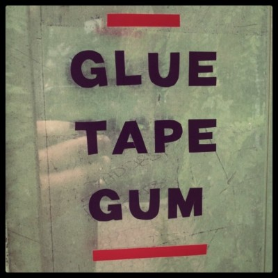 Glue tape gum.  (Taken with instagram)
