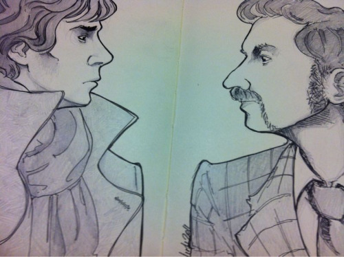 Today's WIP ft Sherlock and mycroft Holmes.