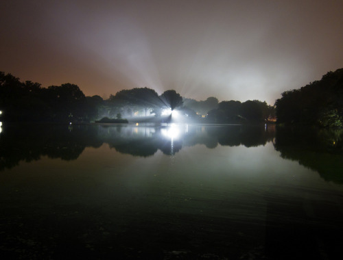 Alien Landing - Central Park on Flickr. Friday, 6/24/11, 10:45pm. Close encounter across the lake in Central Park.