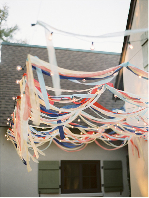 I really love this- especially for a backyard wedding!