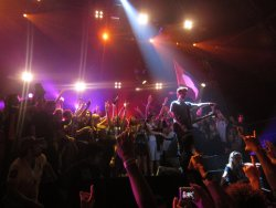 when i was on the stage at the 30stm concert 2011. made my year