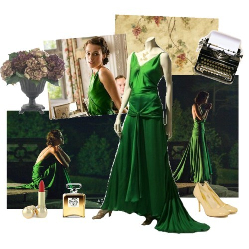 """Atonement"" had one of my very favorite costumes in film.Keira's green gown was absolutely exquisite"