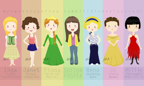 Finally done with my Sutton Foster illustrations!