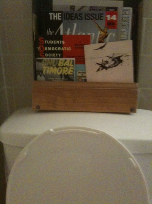 Bathroom Reading: Snobaltimore spotted at house party in Hampden.