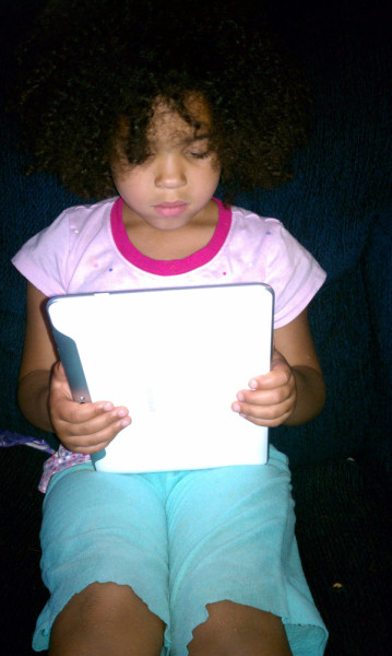 We have started the process of reading books on the tablet. She knows paper books are on the way out and libraries in their current form will be a thing of the past. She also figured on her own that this will save trees and we'd have more air. Lol  This next generation of kids is gonna be no joke as long as us young adults keep them ahead of the tech curve.