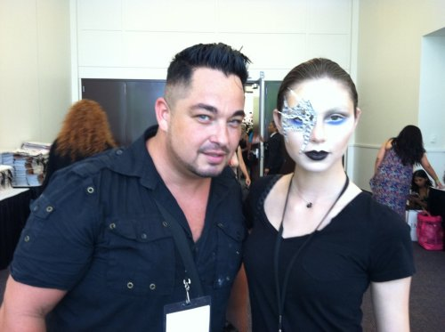 Roshar - the artist and I at IMATS. He presented for Yaby as well as some looks he keyed for Fashion Week. Check him out…he is AMAZING. www.roshar.com