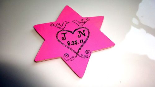 leajoelle:    Save the Date Magnets - Star of David with Lovebirds