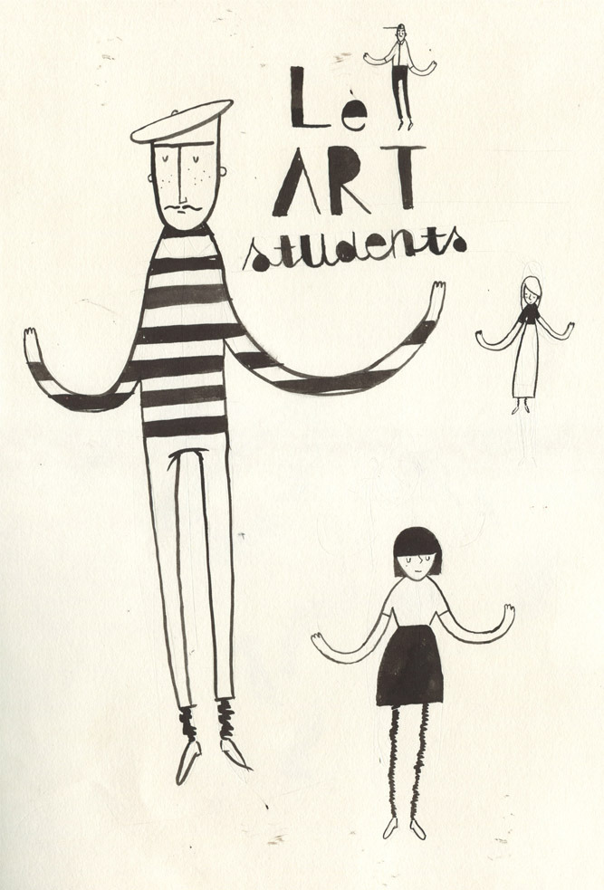 morganmardell:  LE ART STUDENTS  illustration from Morgan Mardell