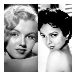 "dorothydandridge:  Marilyn Monroe and Dorothy Dandridge were great friends. However, NO biography of Marilyn Monroe mentions her friendship with this great black actress. After Dandridge would finish performing with the Desi Arnez band in Hollywood, she would call Monroe, they would talk for hours about their career, problems with men and racism in Hollywood. Dorothy, Marilyn, and Ava Gardener partied together. Marilyn never tried to hide her friendship with Dorothy. It was simply unpopular for whites to have black friends during segregation. So white media outlets refused to report on their friendship.This may be why Marilyn Monroe biographers are ""unaware"" of the great friendship these two shared."