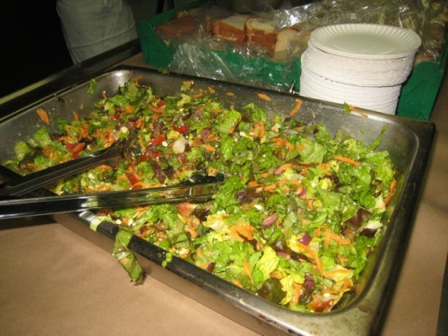 SJSK Green Team: Ron and Ben prepared an amazingly good Greek Salad at St. Joseph's Soup Kitchen today. INCREDIBLY delicious and nutritious!