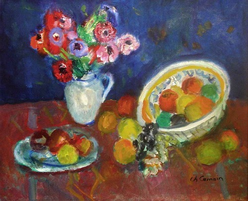 Charles Camoin Still Life with Fruit and Flowers 1957