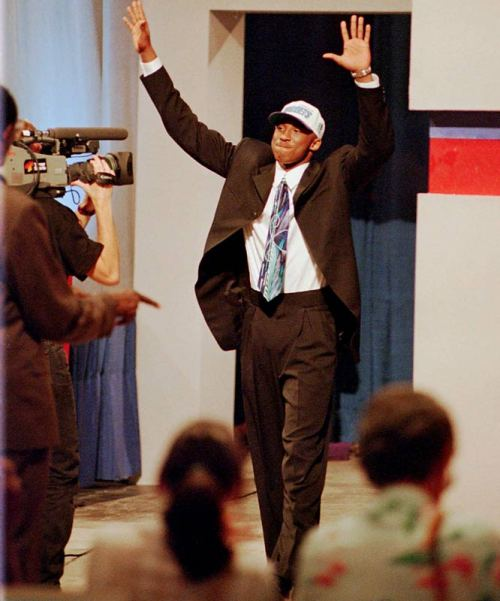 *with the 13th pick in the 1996 NBA Draft, the Charlotte Hornets select.. Kobe Bryant.