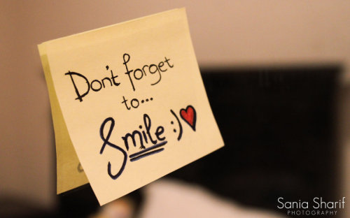 newlifelook:  don't forget to smile