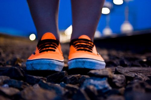 My orange vans. Photo by Ileana Le.