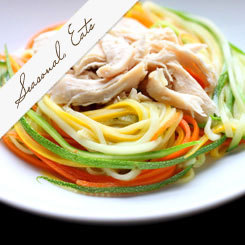 Seasonal Eats: Zucchini Noodles with Peanut Sauce