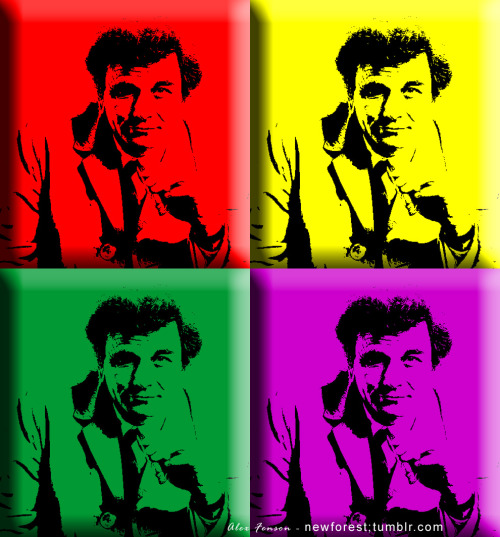 Ok, just one more Warhol take on Peter Falk. @ Alex Fenson - newforest.tumblr.com Original photo copyright Abaca Artwork design ►  me - @ Alex Fenson - newforest.tumblr.com Don't forget, today's the last day of the Andy Warhol exhibition in  Southampton.